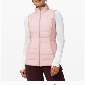 Lululemon Down For It All Vest in Porcelain Pink
